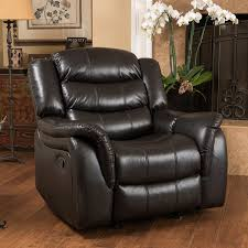 Livingroom Chair by Amazon Com Merit Black Leather Recliner Glider Chair Kitchen