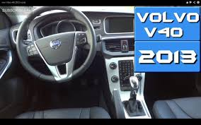 volvo v40 2013 inside youtube