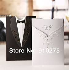 wedding card to groom groom tuxedo gown design wedding cards invitation party