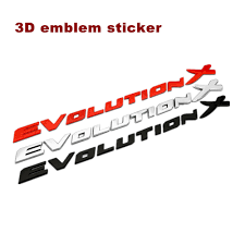 mitsubishi badge new 3d car chromed evolution x back logo emblem badge decal car