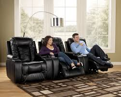 home theater seating clearance matinee durablend eclipse contemporary 3 piece theater seating