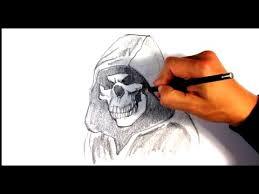 Amazing Skull - amazing skull in hoodie design draw
