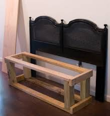 Bench From Headboard Headboard Bench Tutorial The Lettered Cottage