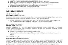 construction worker resume construction laborer resume inssite