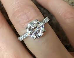 2 carat solitaire engagement rings 2 carat ring etsy