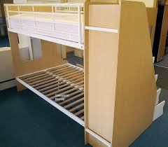 Beech Bunk Beds Beech Trio Bunk Beds With Staircase Storage At Sleepland Beds