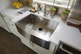 decor quarted curved stainless farmhouse sink for kitchen