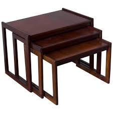 punch design inc teak nesting tables for sale at 1stdibs