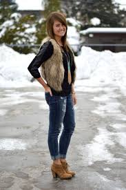 how to wear a fur vest and look amazing