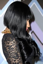 very short in back and very long in front hair move over half shaved heads i think nicki minaj may have