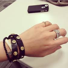 double wrap bracelet images Tory burch jewelry tory burch logo stud double wrap leather jpg