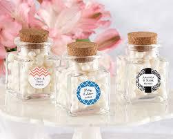 favor jars personalized square glass favor jar wedding favors by kate aspen