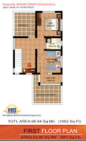 1062 sq ft 3 bedroom low budget house home appliance