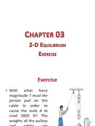 chapter 03 equilibrium 2d exercise force mass