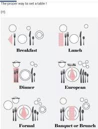 how to set a dinner table correctly 96 best the table images on pinterest flatware spoons and antique