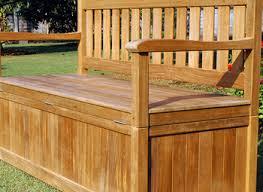 redwood storage bench custom outdoor wooden storage soapp culture