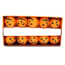 vibrant jack o lantern pumpkin string lights autumn halloween