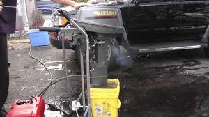 suzuki 9 9hp 2 stroke tiller outboard motor oil injection youtube