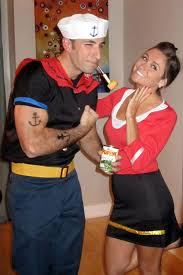 Halloween Costumes Ideas Couples 25 Popeye Costume Ideas Funny Couple Costumes