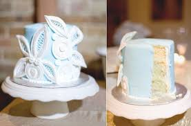 blue white wedding cake winter wedding reception ideas