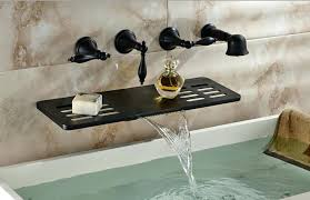 reston wall mount waterfall tub faucet brushed nickel ebay wall mounted bathtub faucets lejadech com