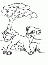 nala coloring pages the lion king young nala coloring page coloring home
