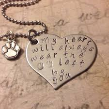 Personalized Memorial Necklace Shop Personalized Dog Paw Necklace On Wanelo