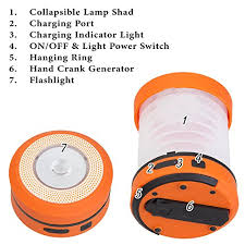 hand crank led light buy ivation hand crank led cing lantern collapsible rainproof