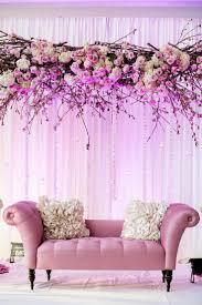 wedding couple stage decoration with flowers 1 u2013 interior