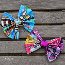 hair bows doodlecraft candy wrapper hair bows or bowties