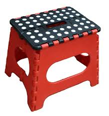 Bathroom Stools Amazon Com Jeronic Folding Step Stool Red Kitchen U0026 Dining