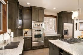 contemporary kitchen design with black tiles backsplash features
