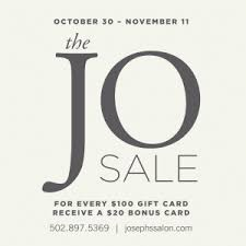 once yearly jo sale has begun at joseph s salon spa buy 100