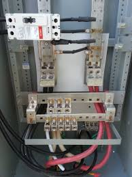 outdoor distribution electrical service panel live wire electric