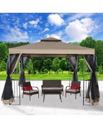 Mosquito Netting Patio Holiday Deals 35 Off Cloud Mountain 10 U0027 X 10 U0027 Garden Gazebo