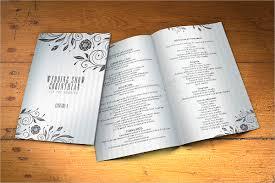 wedding program designs 18 wedding program templates free psd ai eps format