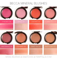 round up becca mineral blushes overview u0026 thoughts minerals