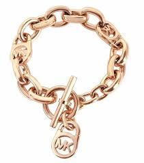 rose gold link bracelet images Mkj2752791 michael kors logo lock rose gold toggle bracelet me309 jpg