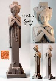garden sprite small statue replica by frank lloyd wright
