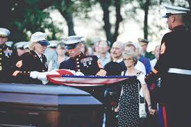 Military Funeral Flag Presentation Huge Edh Turnout For Fallen Marine