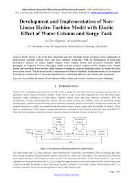 development and implementation of non linear hydro turbine model