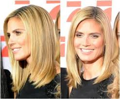 what face shape heidi klum awesome hairstyles for square shaped faces heidi klum shoulder