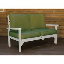 decor classy white wood stained exterior bench for 2 people seat