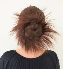 bun scrunchie spiky whirlwind elastic hair bun scrunchie soft realistic