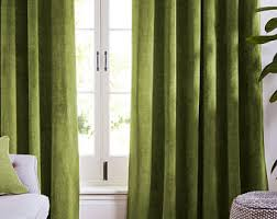 Green Bedroom Curtains Green Curtains Etsy