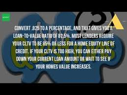 how is the value of your home determined for a home equity loan