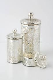 Glass Bathroom Storage Jars Monarch Mercury Jar Anthropologie Anthrofave Apartment