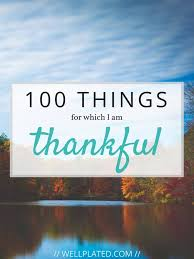 100 things for which i am thankful well plated by erin