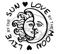 sun moon live by the sun by the moon svg cut file use with