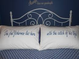 fisherman quote hand painted pillowcases for your bedroom decor by